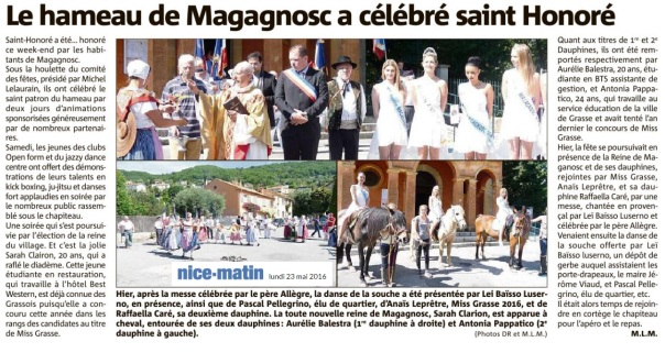 Article Nice Matin St Honoré JRL